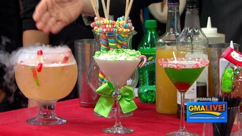 interesting cocktails fun cocktails to make your holiday sweet video abc news