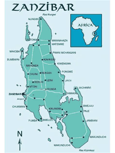 printable map of zanzibar zanzibar map