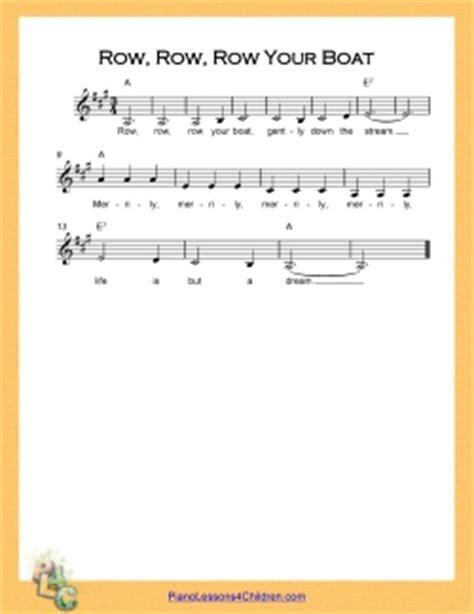 row your boat music notes row row row your boat lyrics youtube videos free