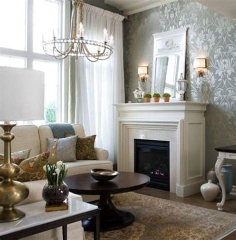 40 Living Room Decorating Ideas Damask Wallpaper Damasks And | 30 elegant and chic living rooms with damask wallpaper
