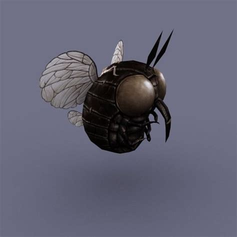 fliese rund fly insect 03 3d model ready max obj