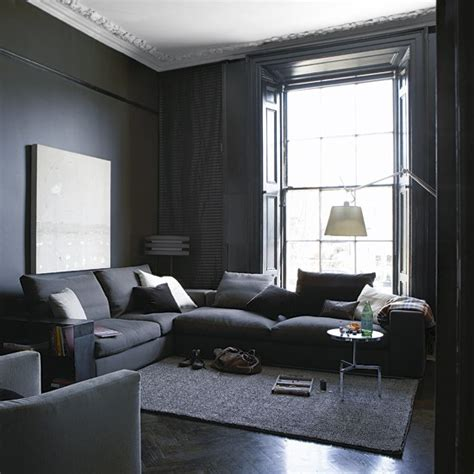grey paint living room home garden design