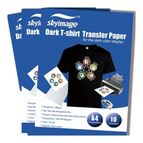 iron on printing paper for t shirts china quality a4 iron on t shirt transfer paper for dark