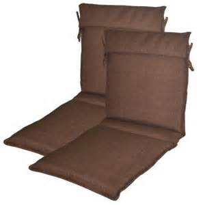 Plantation Patterns Cushions Plantation Patterns Brown Solid Outdoor Sling Chair