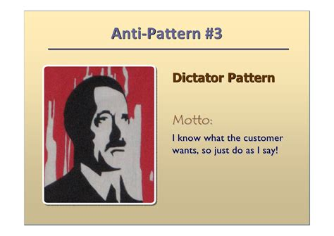 anti pattern agile analysis anti patterns