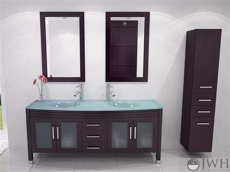 Glass Top Vanities by Jwh Living 63 Quot Grand Regent Sink Vanity Glass Top