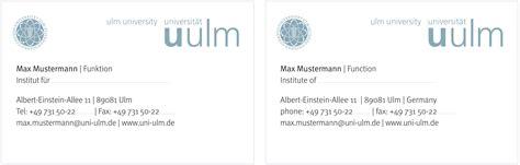 Visitenkarten Titel Bezeichnung by Visitenkarten Universit 228 T Ulm