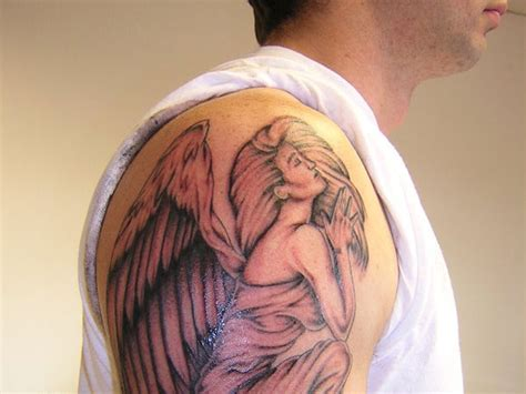 angel shoulder tattoos for men for shoulder www imgkid the image