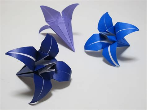 Origami Lilies - origami how to make a iris flower hd