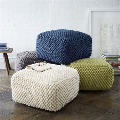grey pattern pouf best 25 poufs ideas on pinterest floor pouf knitted
