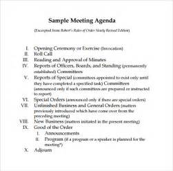 agenda for board meeting template sle board meeting agenda template 11 free documents