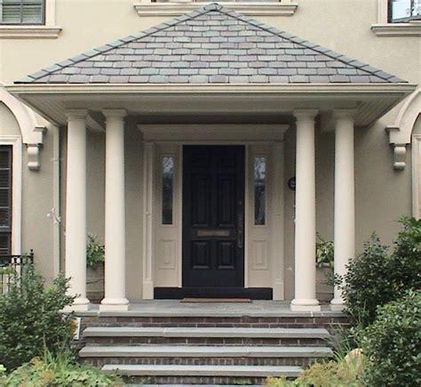 Front Door Pillars Tough White Pillars Black Front Door Designs Outdoor Staircase Ornamental Plants