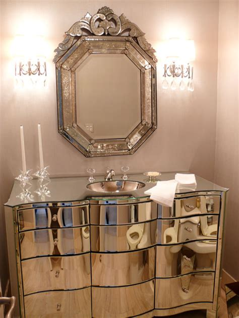 Glamorous Bathroom Mirrors | ash tree cottage getting pretty in a powder room