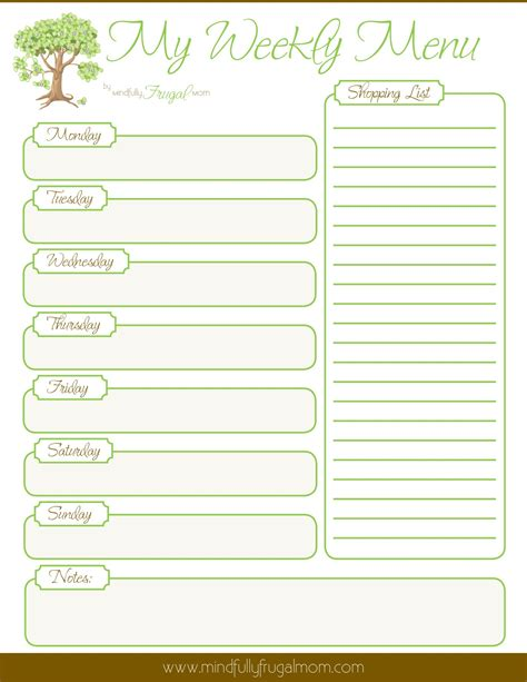 printable meal planning menu 9 best images of dinner planning printable free meal