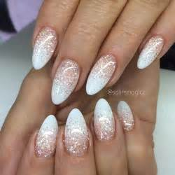 Addition french almond nails ombre glitter together with diner kitchen