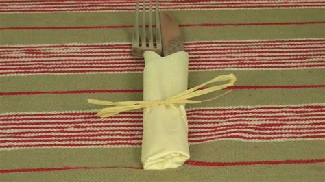 Folding Paper Napkins To Hold Silverware - napkin folding tutorial serviette folding tutorial
