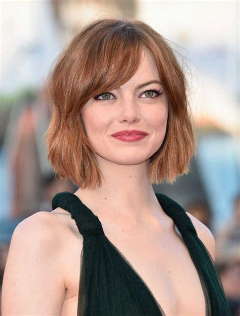 hair styles on pinterest round faces stephanie powers short bob haircuts with bangs 2018 haircuts models ideas