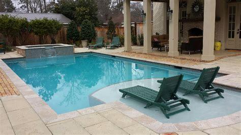 pools with spas hattiesburg inground gunite swimming pool and vinyl