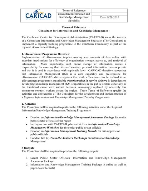 terms of reference template for consultant terms of reference ikm consultant regional