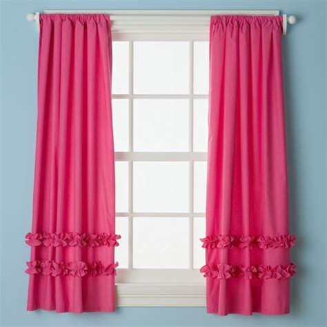Pink Ruffle Curtains The Great Curtain Search Caden