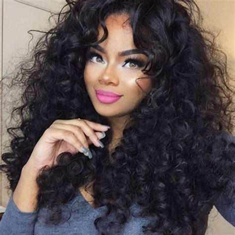loose deep wavy hair photo 250 density glueless lace front human hair wigs loose