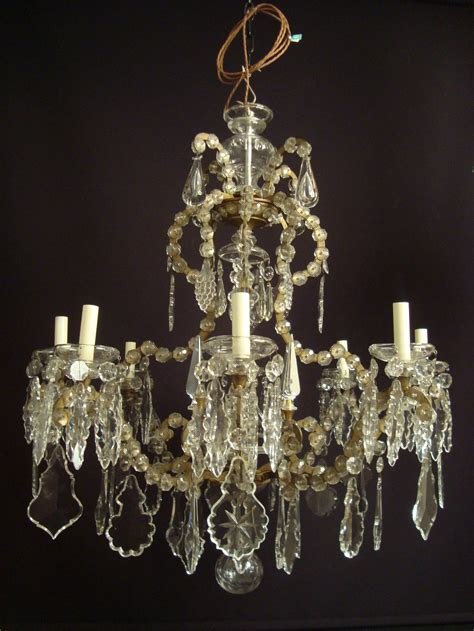 Wrought Iron Chandelier With Crystals Most Wrought Iron Glass And Italian Chandelier At 1stdibs