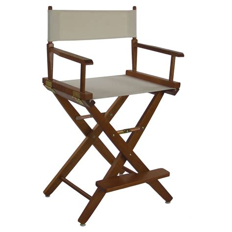 Counter Height Directors Chair by Wide Premium 24 In American Oak Counter Height