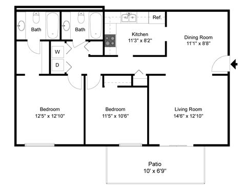 Rivergate Floor Plan by Floorplans Amp Pricing Graybrook Amp Graycroft Apartments