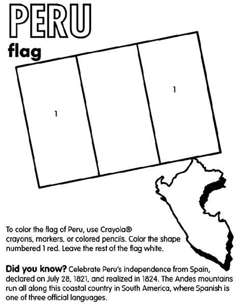 Peru Coloring Page Crayola Com Peru Coloring Pages