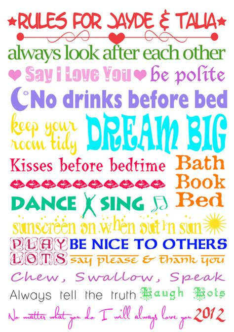 House Rules Design Your Home by House Rules Babyart Design