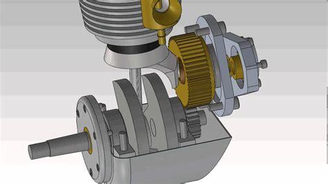 motor cycle  model running engine animation youtube