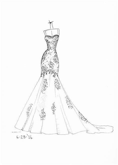www.etsy.com/shop/dresssketch wedding dress sketch | wedding dress sketches em 2019 | Desenhos