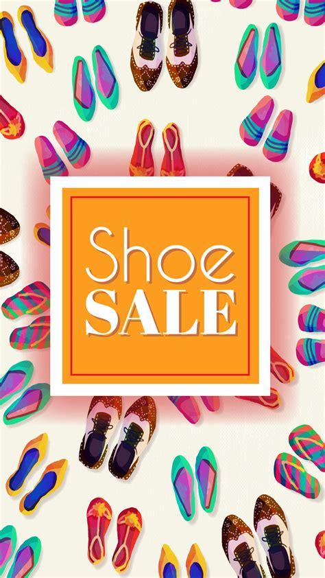 shoe sale watercolor shoe sale background portrait aus digital media