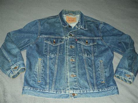 mens vintage levis denim jean jacket size 42 made in the
