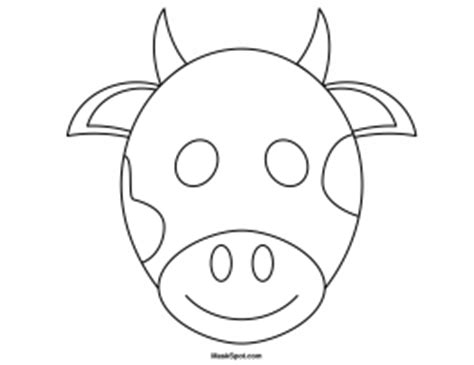 bull mask template printable cow mask