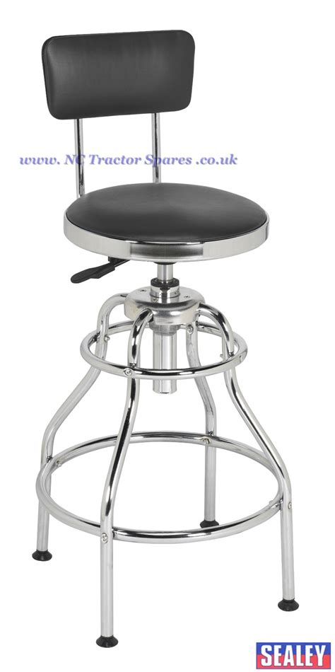 Adjustable Workshop Stool by Workshop Stool Pneumatic With Adjustable Height Swivel Seat Back Rest