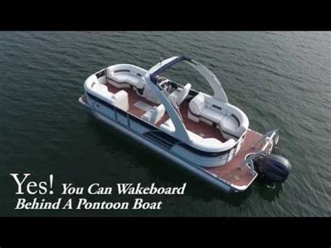 wakeboard behind boat yes you can wakeboard behind a pontoon boat 2017 youtube