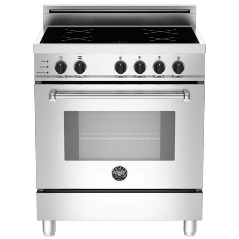 oven electric range with induction cooktop mas304insxt bertazzoni master induction cooktop electric