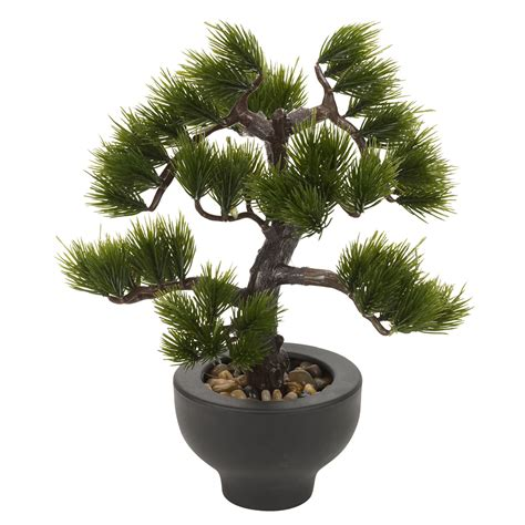 artificial plants for office desk artificial office desk 33cm bonsai tree black plant pot