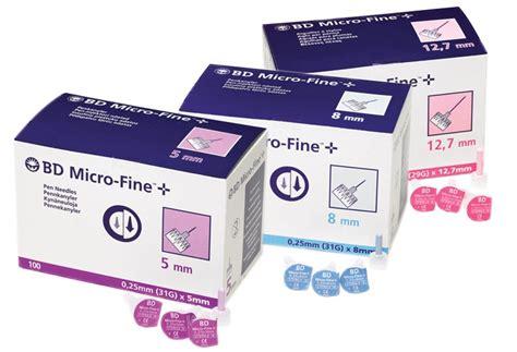 b d bd micro fine pen needle