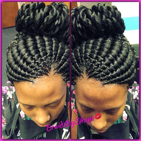 ghanaian hairstyles ghana bun with twisted ends braidsbyshaye pinterest