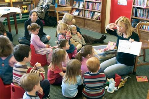Story Picture Library library library story hour students britannica
