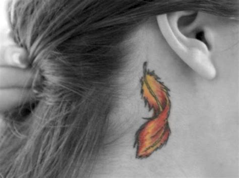 feather tattoo designs behind ear feather tattoos designs pictures