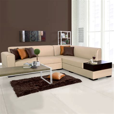 L Shape by L Shaped Sofas Alden Leatherette L Shape Sofa Left
