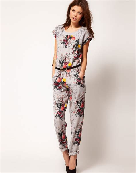 Floral Jumpsuit Premium Quality 58 best floral printed jumpsuits images on bodysuit fashion jumpsuit and jumpsuits
