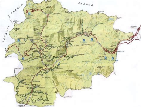 andorra map physical map of andorra size
