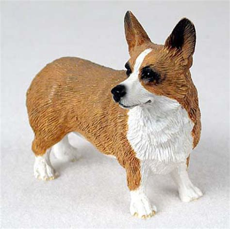Corgi Figurine Collectibles | welsh corgi pembroke hand painted collectible dog figurine