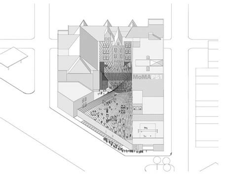 moma floor plan interboro partners wins competition for this summer s ps1 moma s courtyard installation