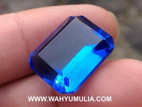 Batu Obsidian Kotak Blue Biru batu permata obsidian biru kode 435 wahyu mulia