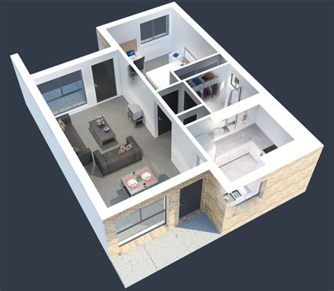 1 bedroom student apartments 1 bedroom apartment house plans